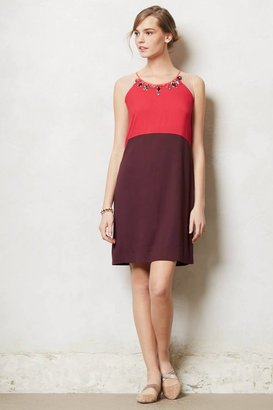 Anthropologie Jeweled Ruby Shift