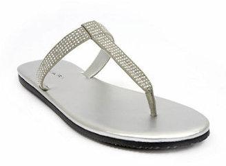Tahari Beaded Suede Thong Sandals