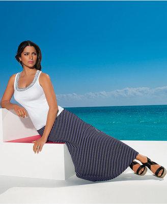 INC International Concepts Skirt, Striped Maxi