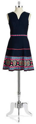 Shoshanna Embroidered Dress