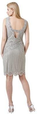 Adrianna Papell Sleeveless Beaded Cocktail Dress