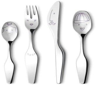 Georg Jensen Kid's The Twist Family 4-Piece Cutlery Set