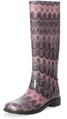 Missoni Aubergine Flat Rain Boot