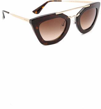 Prada Thick Frame Sunglasses $390 thestylecure.com