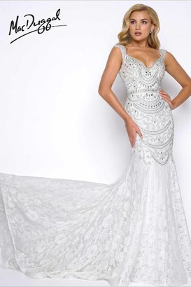 Mac Duggal Prom - 65684 V Neck Gown In Ivory