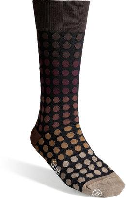Paul Smith Cotton Blend Faded Polka Socks