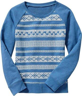 Old Navy Girls Graphic Terry-Fleece Sweatshirts