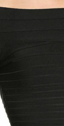 Herve Leger Signature Essential Long Sleeve Cocktail Dress