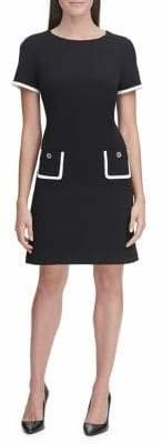 Tommy Hilfiger Scuba Crepe Pocket Short Sleeve Dress