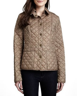 Burberry Kencott Quilted Snap-Front Cropped Jacket $595 thestylecure.com