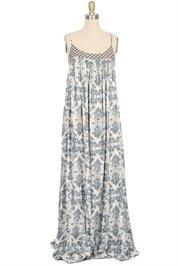 AURORA TOWN Long Print Dress