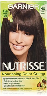 Garnier Nutrisse Nourishing Color Creme, 40 Dark Brown (Dark Chocolate) (Packaging May Vary) $7.99 thestylecure.com
