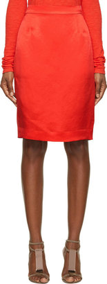 Lanvin Red Pencil Skirt $1,040 thestylecure.com