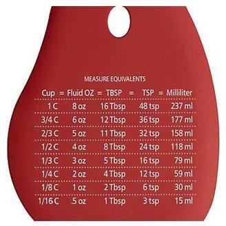 Crate & Barrel Silicone Scraper with Measurements