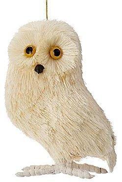 JCPenney MarthaHolidayTM Arctic Owl Sisal Ornament
