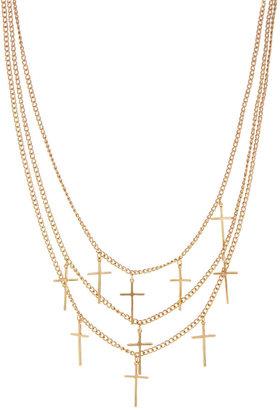 Asos Multi Row Cross Necklace