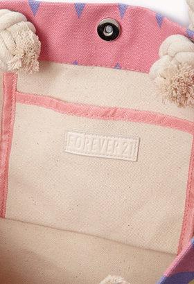Forever 21 Zigzag Beach Bag