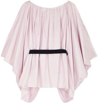 Roksanda Afra Lilac Cape-effect Cotton Top