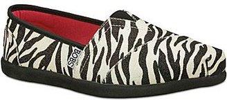 Skechers Bobs from Glitter Zebra-Print Slip Ons