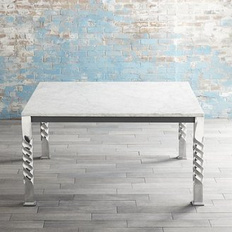 Crate & Barrel Mallorca Square Marble Top Dining Table