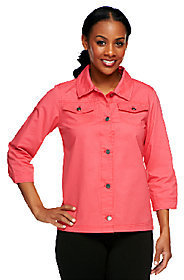 Liz Claiborne New York 3/4 Sleeve Jacket with Waist Detail $16.92 thestylecure.com