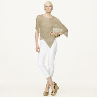 Ralph Lauren Black Label Hand-Knit Metallic Poncho