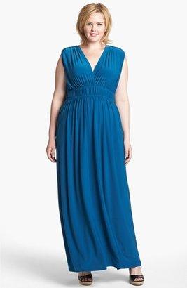Viereck 'Rochelle' Matte Jersey Maxi Dress (Plus Size)