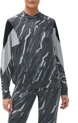 Michael Stars Shea Stripe Dolman-Sleeve Colorblock Hoodie