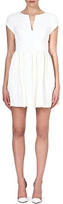 Juicy Couture Brocade split-neck dress