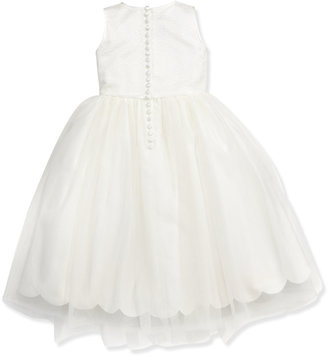 Joan Calabrese Sequin & Tulle Dress, Ivory, Sizes 2-10