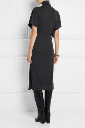 Valentino Wool turtleneck midi dress