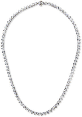 FANTASIA Three-Prong CZ Vermeil Tennis Necklace
