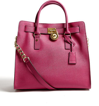 MICHAEL Michael Kors Peony Saffiano Large Hamilton North South Tote