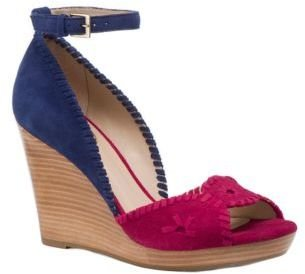 Jack Rogers Chrystie Leather & Suede Wedge Sandals