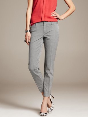Banana Republic Sloan-Fit Houndstooth Slim Ankle Pant