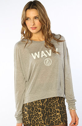 Crooks and Castles The Armada Knit Crop Sweatshirt in Grey Speckle