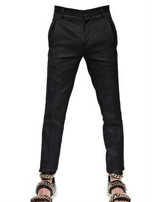 Givenchy 19.5cm Cut Out Cotton Gabardine Trousers