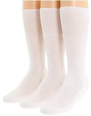 Thorlos Western Dress 3-Pair Pack (White) Crew Cut Socks Shoes