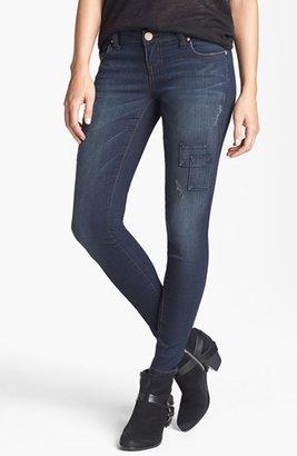 STS Blue Patchwork Skinny Jeans (Dark) (Juniors)