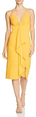 Jay Godfrey Carlo Stretch-Crepe Draped Midi Dress