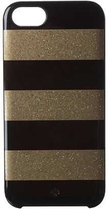 Kate Spade Glitter Jubilee Stripe Resin Case for iPhone 5 and 5s (Black/Gold) - Electronics