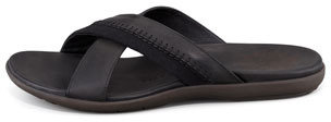 John Varvatos Tobago Stitched Slide Sandal, Black