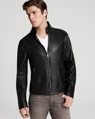 John Varvatos Collection Slim Moto Leather Jacket