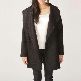 FM908 Hoodie Coat Black