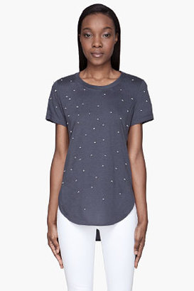 3.1 Phillip Lim Navy Pearl Droplet embroidered t-shirt