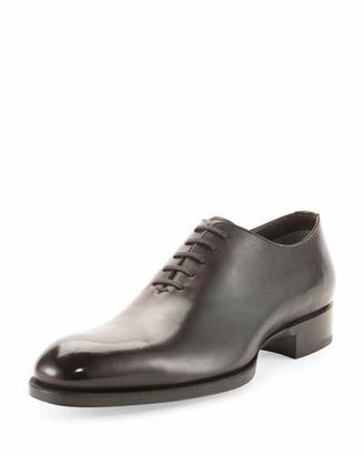 TOM FORD Edward One-Piece Lace-Up TT Leather Shoe $1,790 thestylecure.com