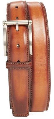 Men's Magnanni Carbon Leather Belt $150 thestylecure.com