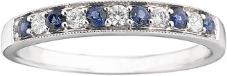 MODERN BRIDE I Said Yes 1/8 CT. T.W. Certified Diamond & Sapphire Milgrain Band