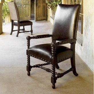 Tommy Bahama Home Kingstown Edwards Genuine Leather Upholstered Arm Chair (Set of 2