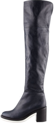 Reed Krakoff Rubber-Sole Over-the-Knee Boot